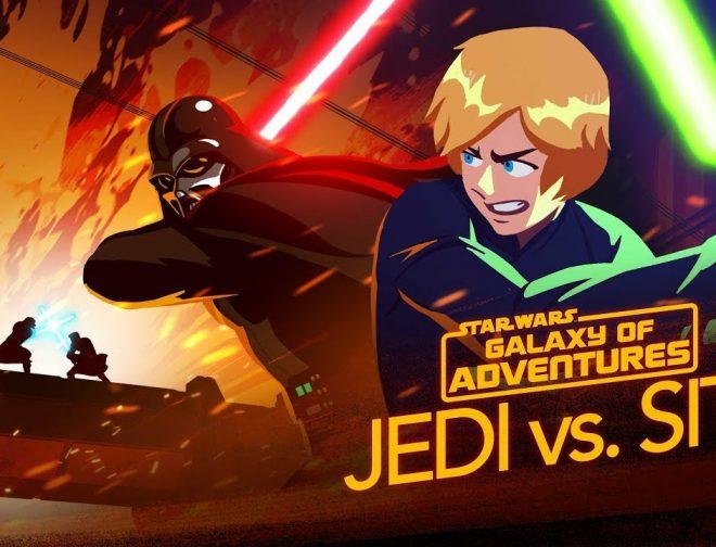 Fotos de Jedi vs. Sith – The Skywalker Saga el Nuevo e Increíble Corto Animado de Star Wars Galaxy of Adventures