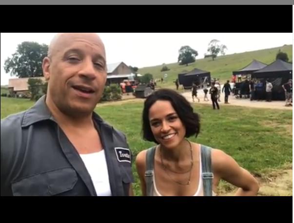 Fotos de Vin Diesel y Michelle Rodriguez Anuncian las Filmaciones de Rápidos y Furiosos 9