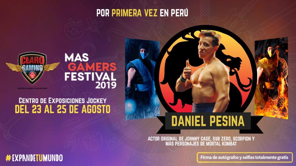 Foto de Daniel Pesina, es el Primer Invitado del Claro MasGamers Festival 2019