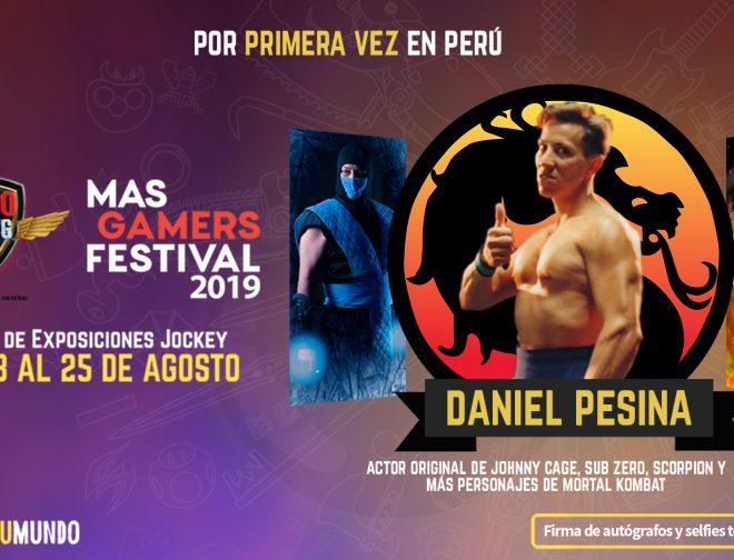 Fotos de Daniel Pesina, es el Primer Invitado del Claro MasGamers Festival 2019