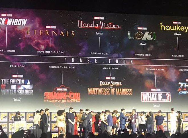 Fotos de Marvel SDCC: Se anunció la Fase 4 del MCU