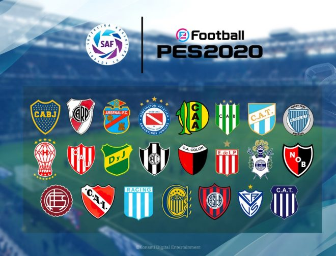 Fotos de Los Clubs River Plate y BOCA Juniors Llegan de Forma Exclusiva a eFootball PES 2020
