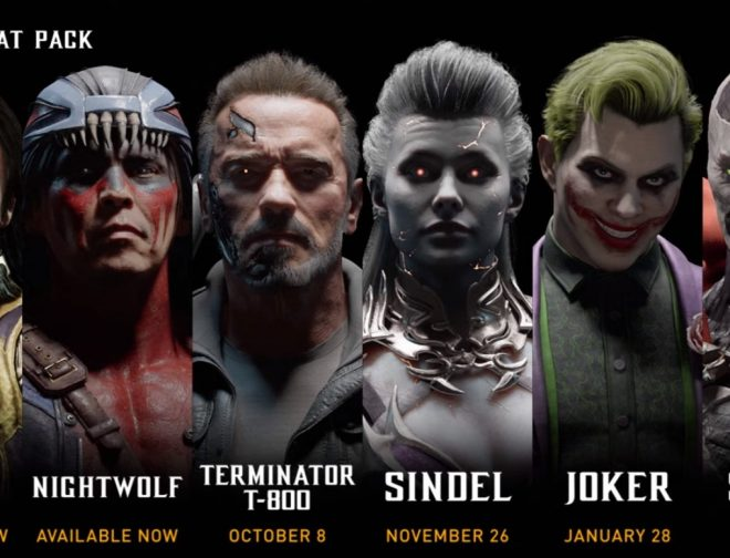 Fotos de Arnold (T-800), Joker y Spawn en el Kombat Pack de Mortal Kombat 11