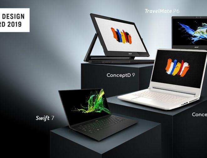 Fotos de Los diseños de notebooks Acer, incluidas las nuevas ConceptD, ganan los premios Good Design Awards 2019