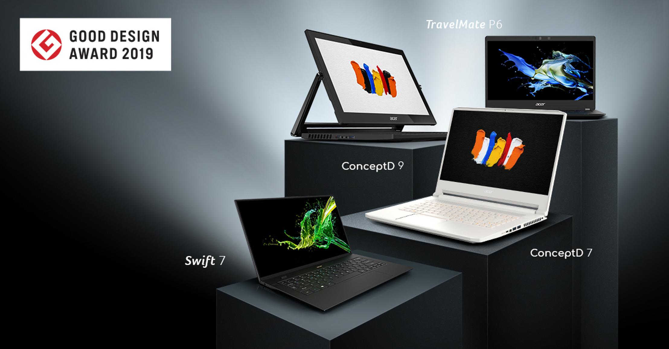Foto de Los diseños de notebooks Acer, incluidas las nuevas ConceptD, ganan los premios Good Design Awards 2019