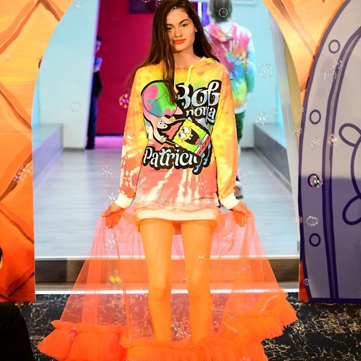 Foto de VNRO x SB Sabor Peruano, la colección de ropa de Edward Venero, Inspirada en Bob Esponja