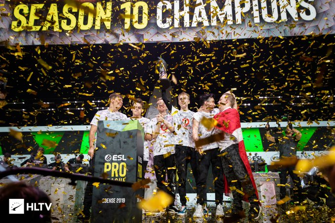 Foto de Mousesports Campeón de la ESL Pro League Season 10
