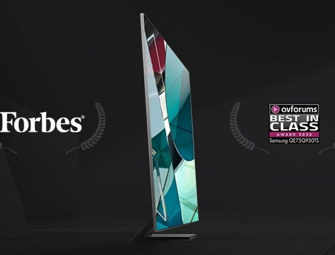 Fotos de La línea de TV QLED 2020 de Samsung fue nombrada la mejor en su clase por varios medios de comunicación mundiales