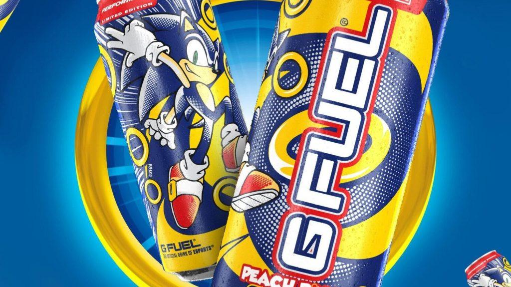 Foto de Sonic the Hedgehog Lanza su Bebida Energética, Junto a G FUEL