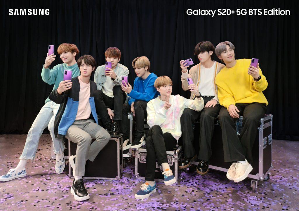 Foto de Samsung y BTS Anuncian, el Galaxy S20+ y los Galaxy Buds+ Inspirados en la Banda de K-Pop