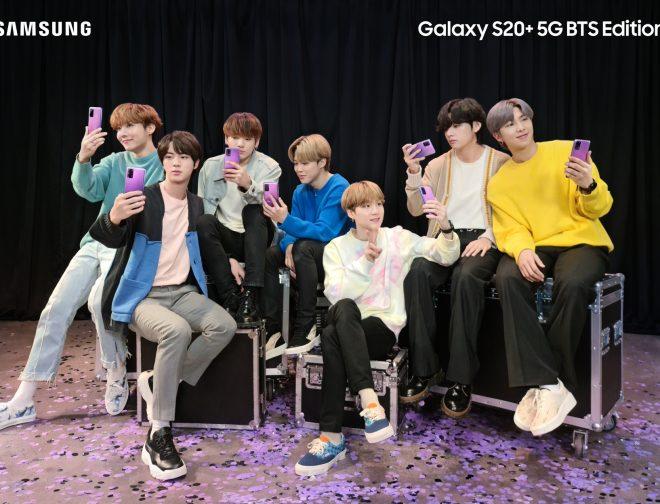 Fotos de Samsung y BTS Anuncian, el Galaxy S20+ y los Galaxy Buds+ Inspirados en la Banda de K-Pop