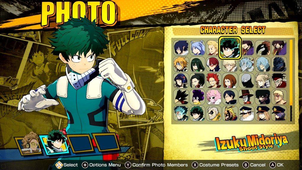 Foto de Bandai Namco Anuncia el Modo Foto del Videojuego My Hero One's Justice 2