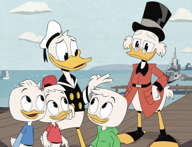 Fotos de Animadores peruanos recrean intro de DuckTales