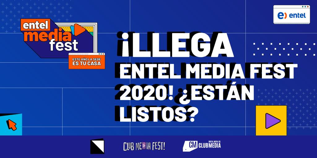Foto de Entel Media Fest 2020 Se Renueva: Este Año la Sede es tu Casa