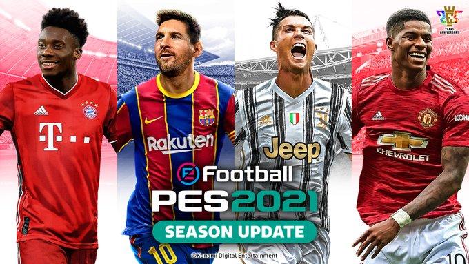Foto de 4 Grandes Futbolistas Estarán en la Portada de eFootball PES 2021