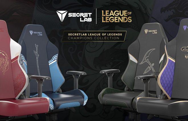 Fotos de Riot Games y SecretLab nos presentan las nuevas sillas gamers de League of Legends