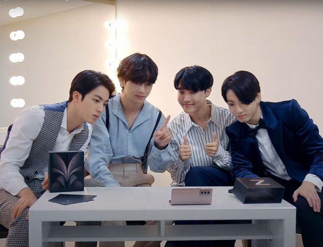 Fotos de La Banda de K-Pop BTS, Realiza el Unpacked del Galaxy Z Fold2