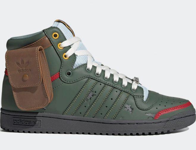 """Fotos de Nuevas Zapatillas Star Wars x Adidas, Top Ten Hi """"Boba Fett"""""""