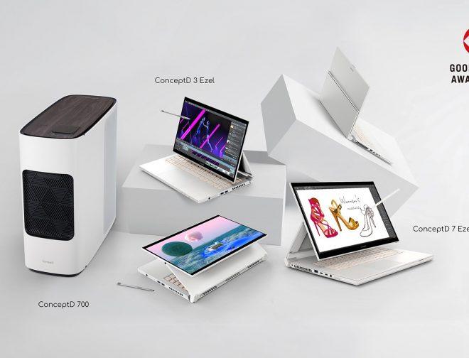 Fotos de La línea ConceptD de Acer para creadores: premiada en los Good Design Awards 2020