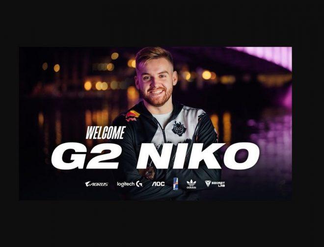 """Fotos de G2 Esports hace el pase del año al confirmar a Nikola """"NiKo"""" Kovač, en su equipo de CS:GO"""