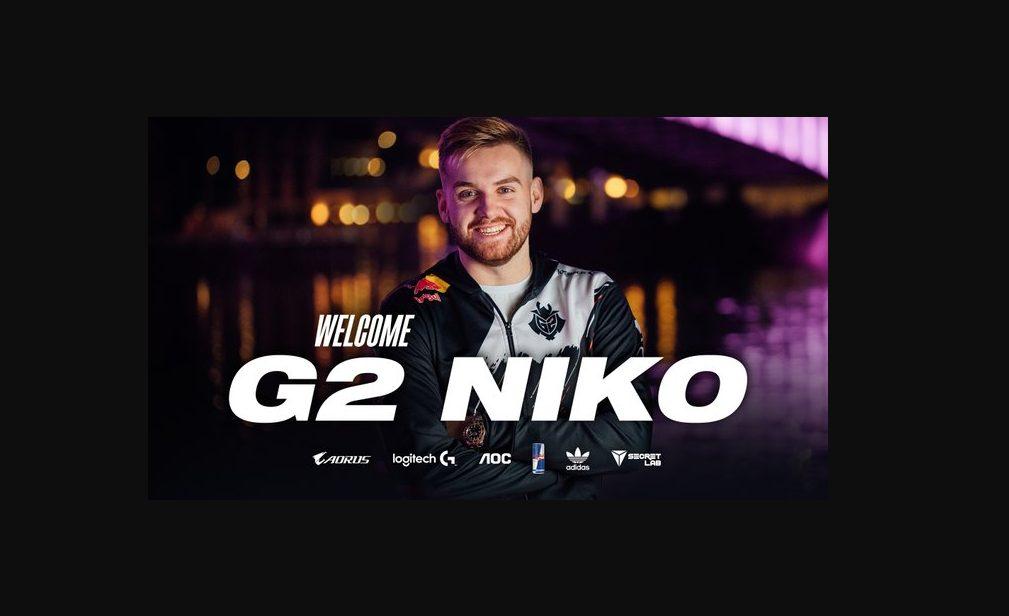"""Foto de G2 Esports hace el pase del año al confirmar a Nikola """"NiKo"""" Kovač, en su equipo de CS:GO"""