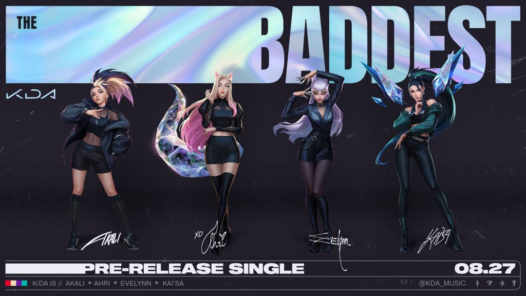 Foto de Riot Games publica setlist y artistas que participarán en el disco KDA: ALL OUT