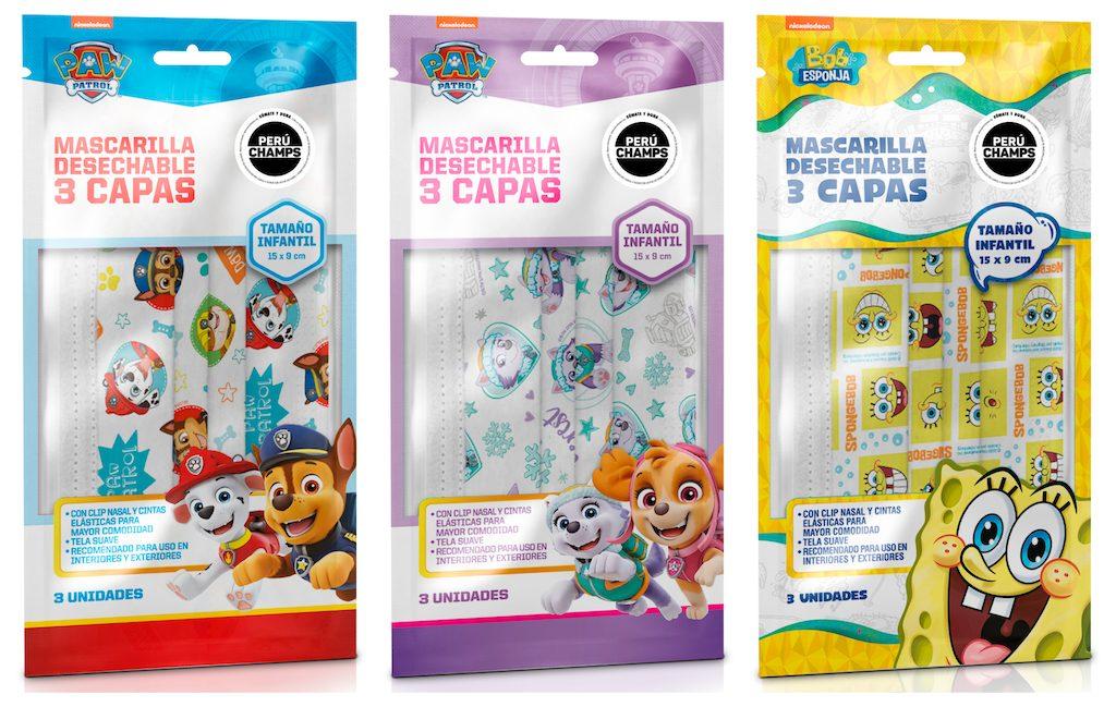 Foto de VIACOMCBS lanza mascarillas descartables de icónicos personajes de Nickelodeon para niños