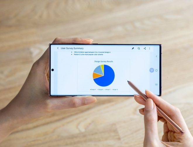 Fotos de 5 momentos en los que el S Pen eleva la productividad del Galaxy Note20
