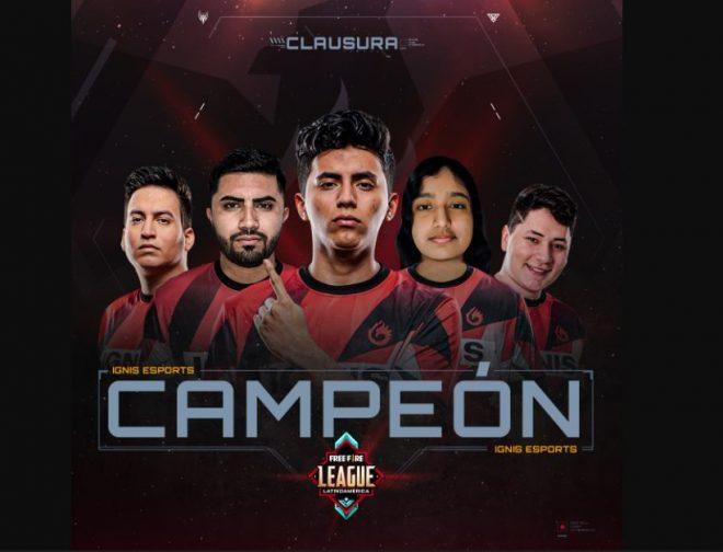 Fotos de Ignis Esports es el campeón de la Free Fire League Latinoamérica, con récord de espectadores