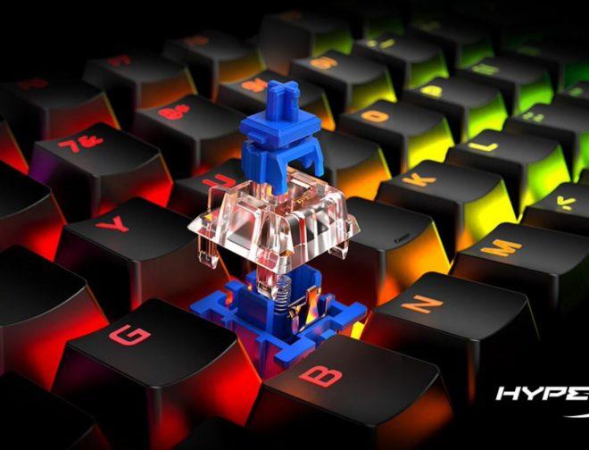 Fotos de HyperX incluye los interruptores mecánicos Blue a la línea de teclados para videojuegos Alloy Origins