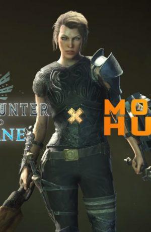 "Foto de Artemis personaje interpretado por Milla Jovovich llega al videojuego ""Monster Hunter World: Iceborne"""