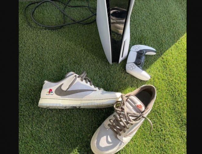 Fotos de Se dan a conocer las geniales zapatillas, Nike Dunk Low Travis Scott x PlayStation