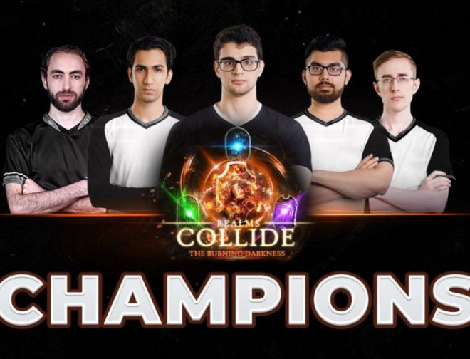 Fotos de Dota 2: Quincy Crew es el campeón de la Realms Collide: The Burning Darkness