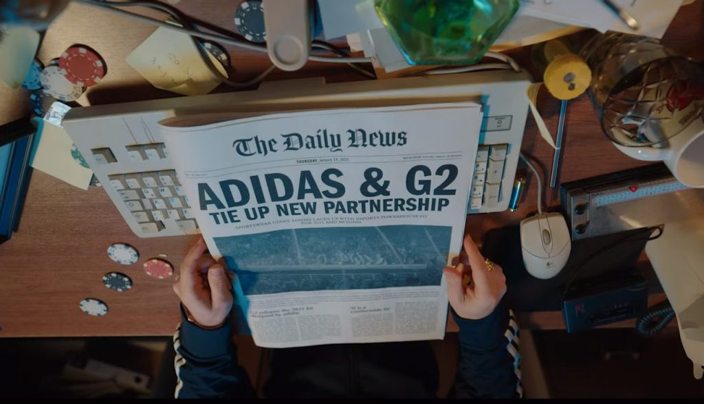 Foto de La organización G2 Esports se asocia con la marca deportiva Adidas