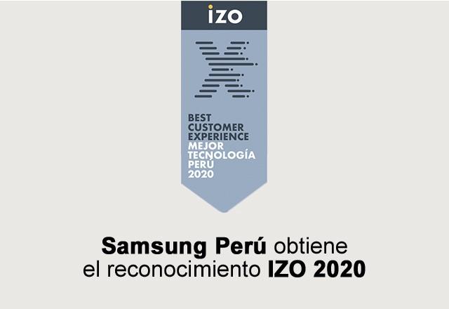 Foto de IZO reconoce a Samsung nuevamente por ofrecer la Mejor Experiencia en Servicio al Cliente en Perú