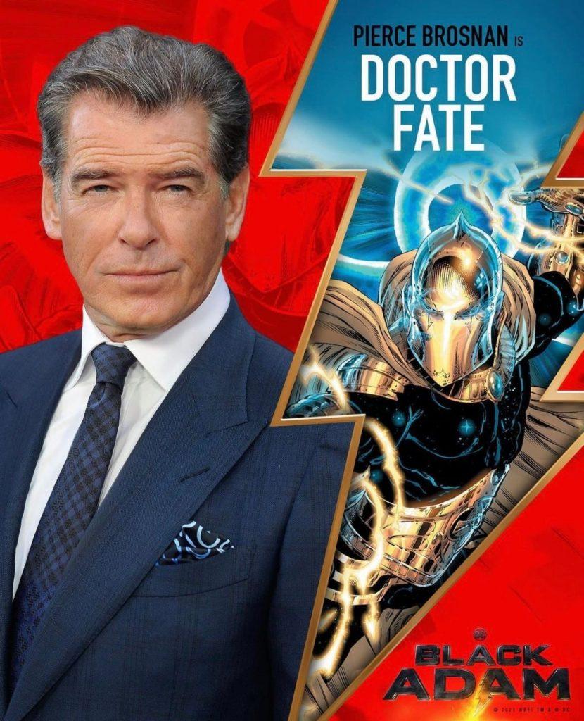 Foto de Pierce Brosnan será Doctor Fate en la película de Black Adam