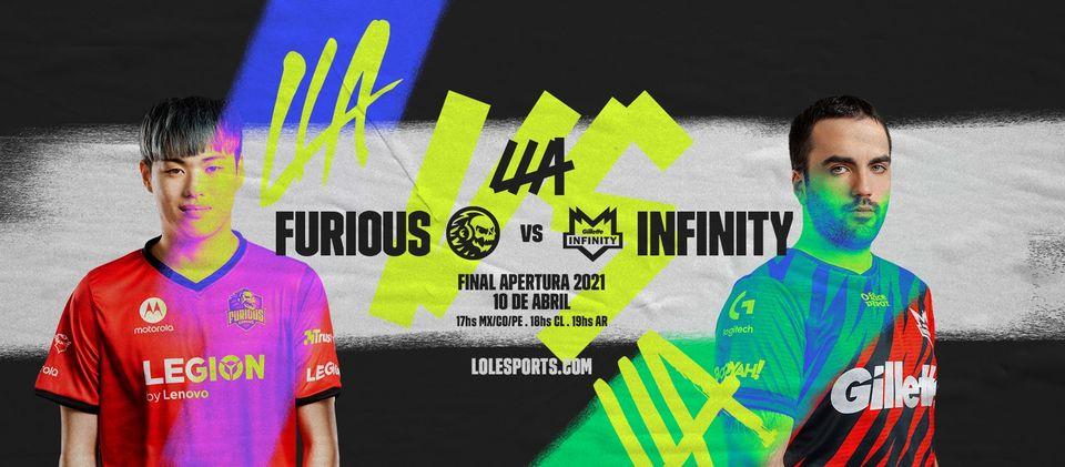 Foto de LLA: Horarios, y donde ver de la gran final entre Furious Gaming y Infinity Esports de League of Legends