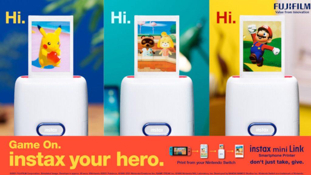 Foto de FujiFilm lanza Instax una mini impresora para Nintendo Switch
