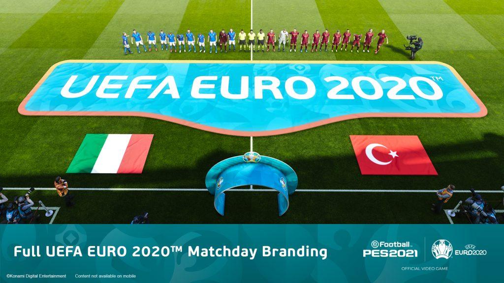 Foto de Prepárese para UEFA EURO 2020 con el nuevo contenido del juego eFootball PES 2021
