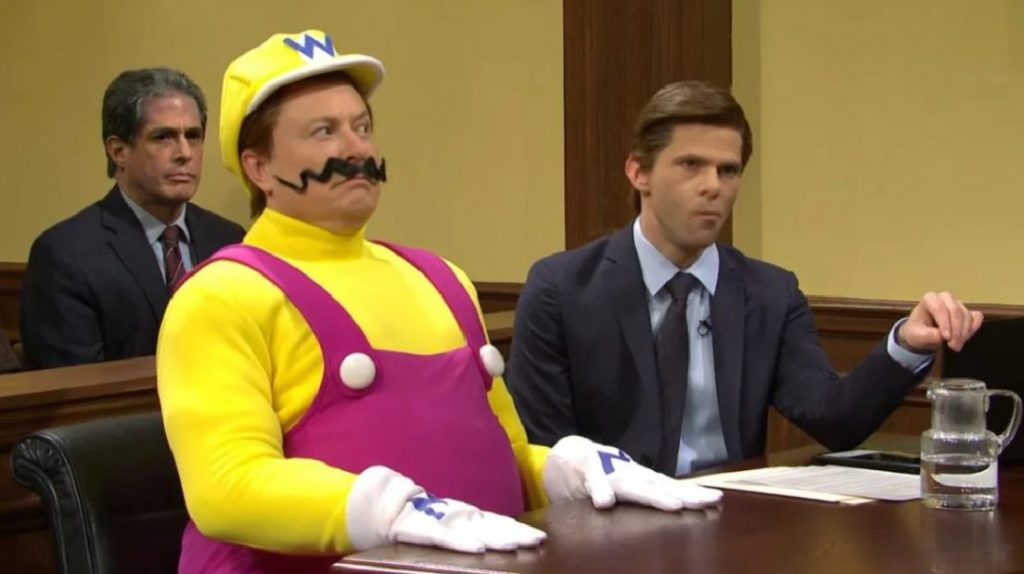 Foto de Elon Musk es Wario en el sketch sobre la muerte de Mario de Saturday Night Live