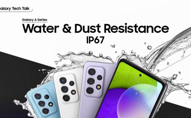 Fotos de Los Galaxy A52 y A72 llegan con resistencia al agua y al polvo para que puedas disfrutar más de ellos
