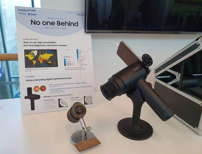 Fotos de EYELIKE de Samsung reutiliza los teléfonos inteligentes Galaxy para lograr el acceso al cuidado de la vista