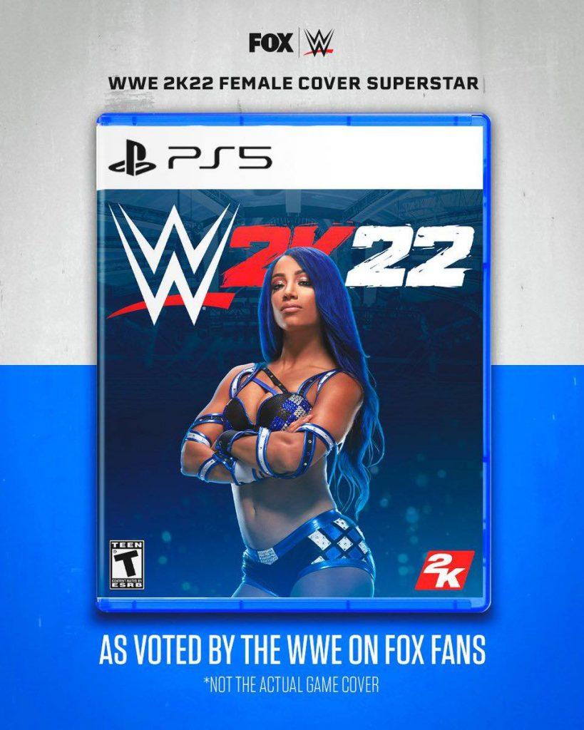 Foto de Sasha Banks y Drew  McIntyre podrían tener su portada en el juego WWE 2K22