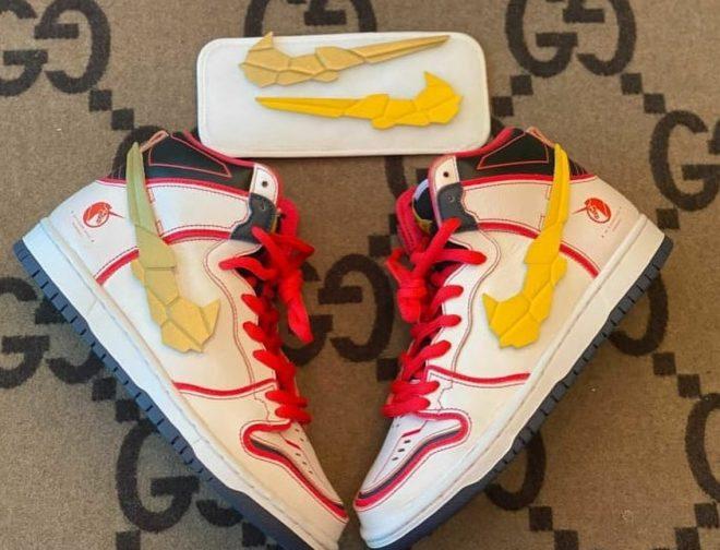 Fotos de Primer vistazo a la colección de zapatillas Gundam x Nike SB Dunk High
