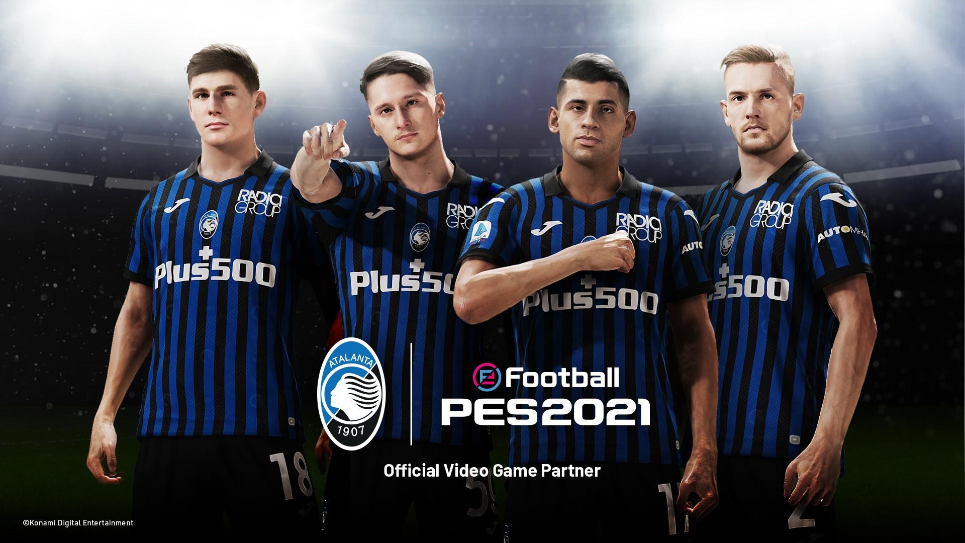 Foto de Atalanta x eFootball PES 2021, la asociación entre el club italiano y Konami