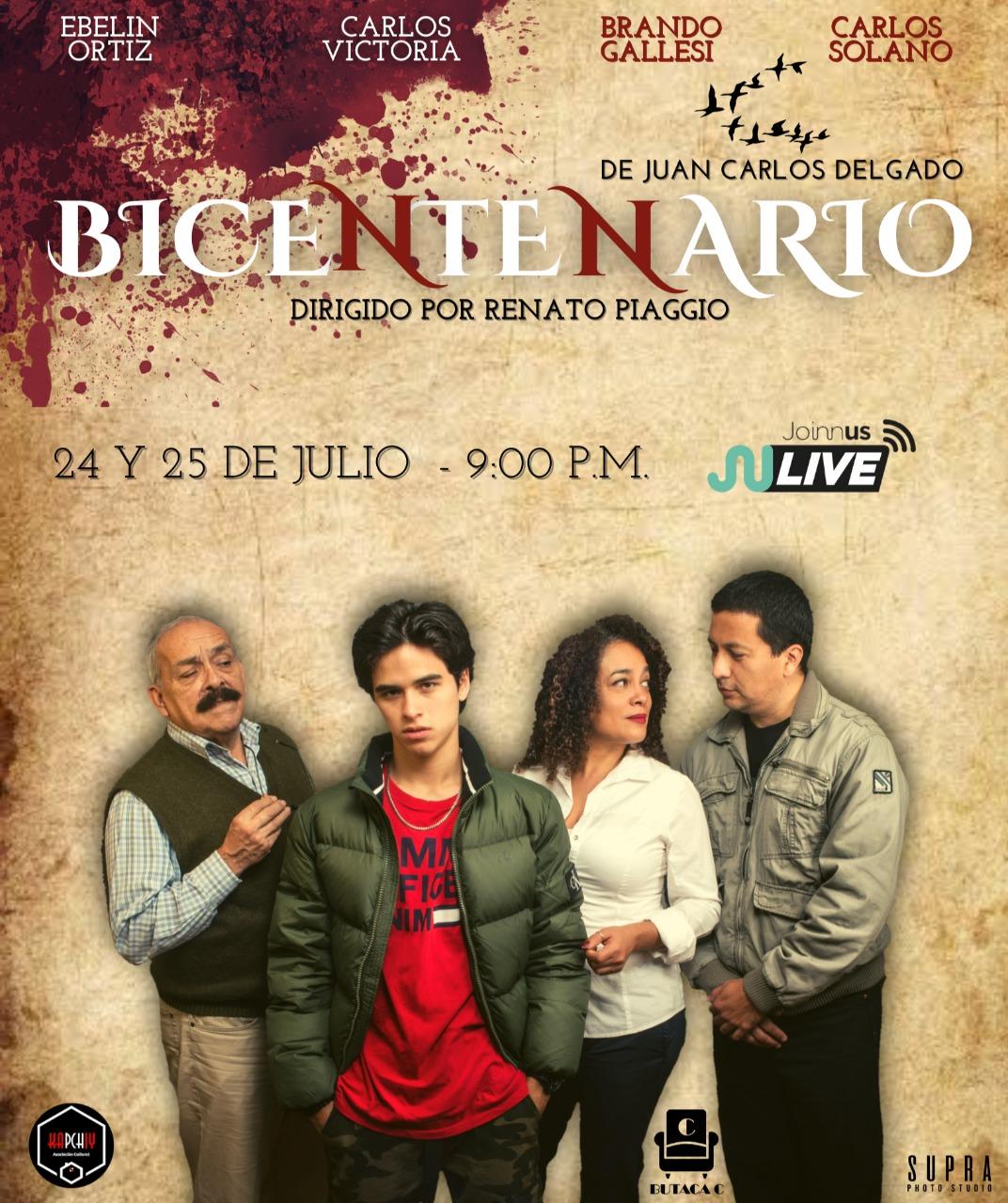 Foto de Se estrena la obra virtual Bicentenario con Carlos Victoria y Ebelin Ortiz