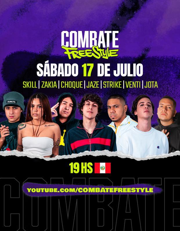 Foto de Se dan a conocer los MC'S peruanos para el evento de Combate Freestyle