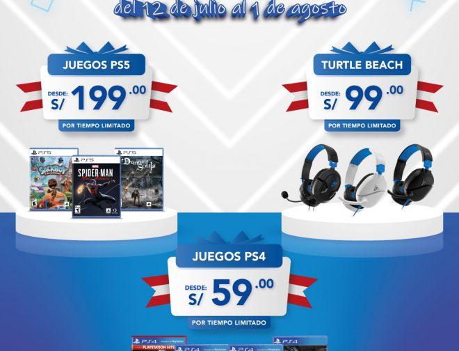 Foto de Ofertas de juegos y headsets para PlayStation 5 y PS4 en Perú