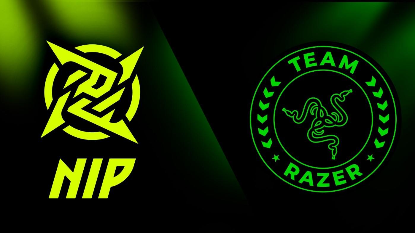 Foto de Team Razer firma con el reconocido equipo de esports de Ninjas in Pyjamas