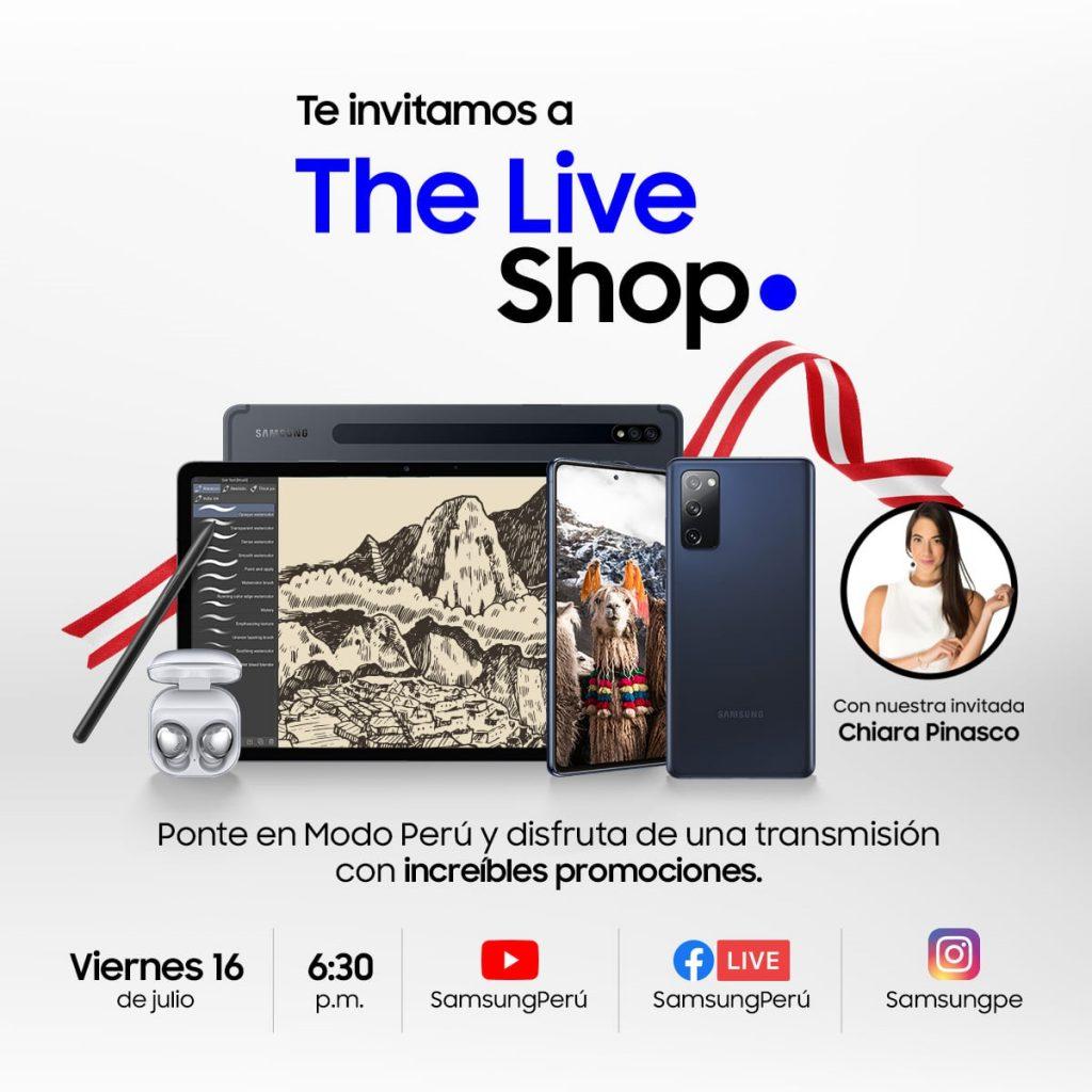 Foto de Samsung Live Shop: ¡Ponte en Modo Perú y engríete en estas Fiestas Patrias!